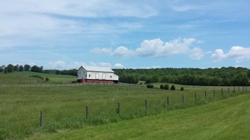 Sweeping Vistas  and Barns En Route